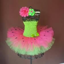lime green and fuschia watermelon tutu dress u0026 headband set