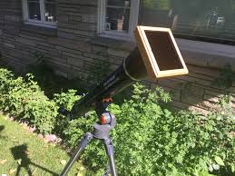 how i salvaged materials to build a great eclipse scope
