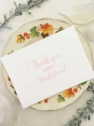 thank you bridesmaid cards bridesmaid thank you card bridesmaid gift bridesmaids card