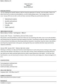 responsibilities of waiter for resume foodcity me