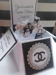 Sweet 16 Invitation Cards 10 3d Card In A Box Chanel Designer Sweet 16 Quinceañera Birthday