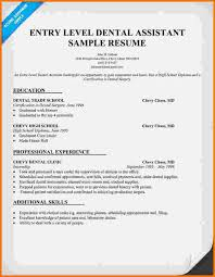 Dental Assistant Resume Sample 6 Experience Dental Assistant Resume Financial Statement Form