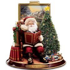 thomas kinkade storytelling santa tabletop figurine u0027twas the