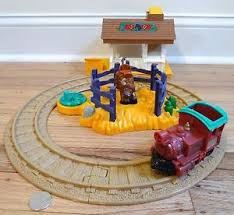 fisher price train table fisher price geotrax n ride ranch rodeo train track set ebay