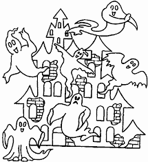 halloween coloring pages printable scary haunted house hallowen