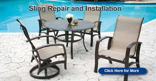 Replacement Fabric For Patio Chairs Patio Sling King Repair And Re Upholster Your Patio Furniture
