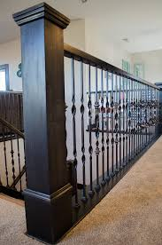 Installing Balusters And Handrails How To Add Wood Handrail To Iron Balustrade Add Wood To Iron Railing