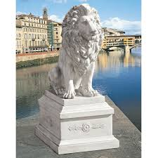 lion garden statue shop design toscano lion of florence sentinel 41 in animal garden