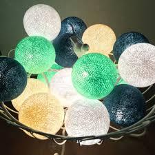 shop cotton ball string lights on wanelo