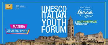 si e de l unesco al via da matera il primo unesco youth forum
