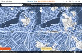 Boston City Map Map Shows Boston Might Go Underwater After 2100