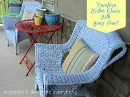 transform wicker chairs with spray paint organize and decorate
