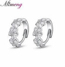 silver earring s925 sterling silver earring 3 flowers designs with korea