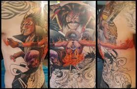 one piece tattoo picture one back piece tattoo update finished ace and law last session