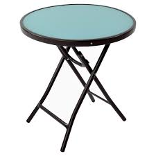 target folding patio table glass folding patio accent table blue threshold target