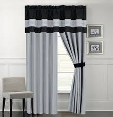 Black Gray Curtains White And Black Curtains Sustainablepals Org