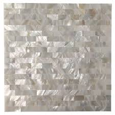 Kitchen Backsplash Tiles Peel And Stick Art3d Peel And Stick Kitchen Backsplash Tile Mother Of Pearl Shell