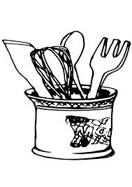 dessin ustensile de cuisine coloriage ustensiles de cuisine img 19079