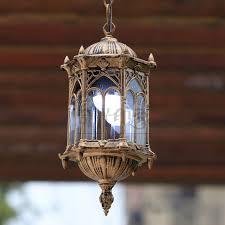european vintage outdoor porch pendant lights courtyard corridor
