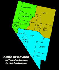 nevada counties map nevada county map state of nevada by county map