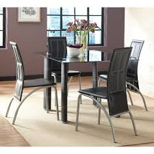 steve silver calvin 5 piece glass dining table set black hayneedle