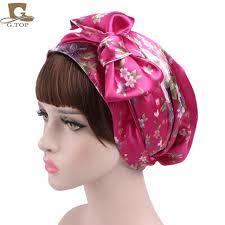 aliexpress com buy new satin bow headscarf comfortable sleeping