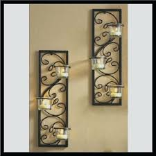 Large Candle Holders For Fireplace by Sconce Wrought Iron Wall Candle Holders Black Candle Wall