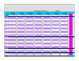 Employee Schedule Template Excel 8 Hour Shift Schedule Templates