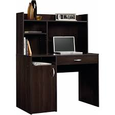 Small Desk With Hutch Sauder Beginnings Desk With Hutch Cinnamon Cherry Walmart