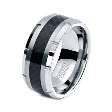 black wedding bands for him and mens tungsten carbide wedding band ring 10mm 5 15 half sizes black