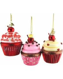 get the deal glass cupcake ornaments 4 inch 3