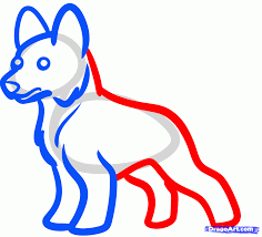 to draw a german shepherd for kids step by animals how top shepard