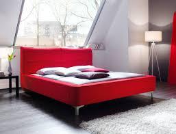 Schlafzimmer Komplett Bett 180x200 Polsterbett Cloude Bett 180x200 Cm Stoffbezug Rot Doppelbett