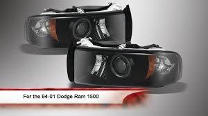 99 dodge ram led lights 94 01 dodge ram 1500 led halo projector headlights