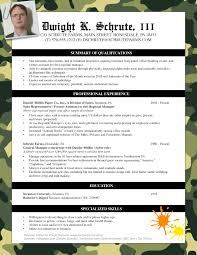 Job Resume Skills And Abilities by Fans Of The Office Here U0027s Dwight Schrute U0027s Resume Pongo Blog