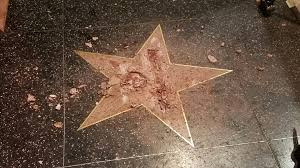 Hollywood Walk Of Fame Map Donald Trump U0027s Hollywood Walk Of Fame Star Vandalized During L A