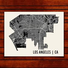 Los Angeles Map Poster by Los Angeles Map Art Print Mr City Printing Touch Of Modern