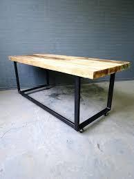 Office Desk With Wheels Metal Desk On Wheels Industrial Chic Reclaimed Custom Office Desks