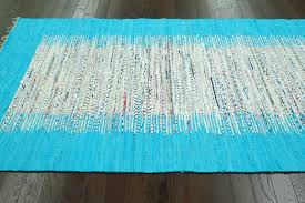 Rag Area Rug by Nuloom Munegu Talia Rag Hand Woven Turquoise Gray Area Rug