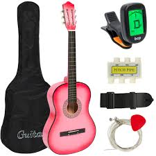 new beginners acoustic guitar with guitar case strap digital e