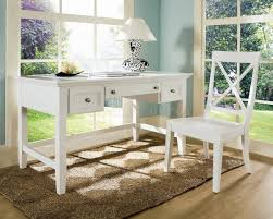 White Desk Small Rectangle White Top Writing Desk With Silver Metal Base