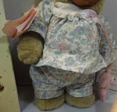 Wooden Faced Teddy Bears Boxed 12 Robert Raikes Courtney Teddy Bear With Wooden Face