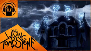 background halloween repeating ghosts the living tombstone grim grinning ghost feat crusher p