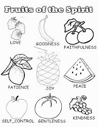 coloring pictures of the fruits of the spirit coloring pages