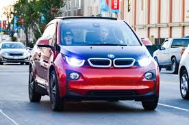 bmw 3i electric car hathaway takes spin in bmw i3 electric car ny daily