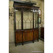 mahogany china cabinet furniture edwardian chippendale style mahogany display cabinet