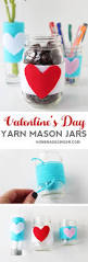 Valentines Day Decor Valentine U0027s Day Decor Yarn Wrapped Mason Jars Homemade Ginger