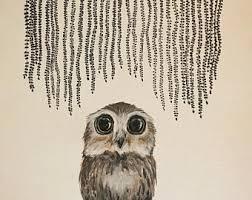 baby owl print etsy