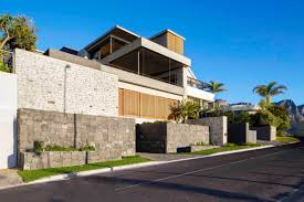 gorgeous house with gabion walls wooden shutters and sea views