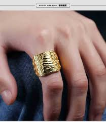 luxury gold rings images Punk rock men ring fashion luxury gold color resizeable to 7 11 jpg